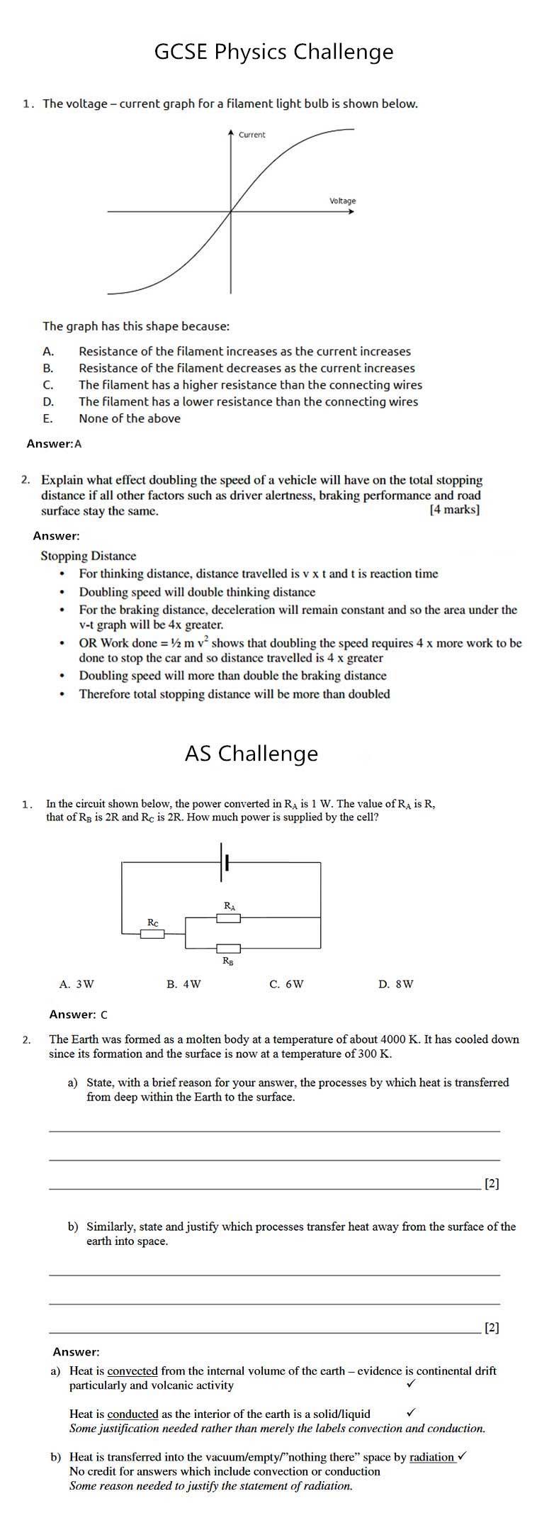 Gcse Physics Challenge As Challenge Asdan China 思德网中国领先