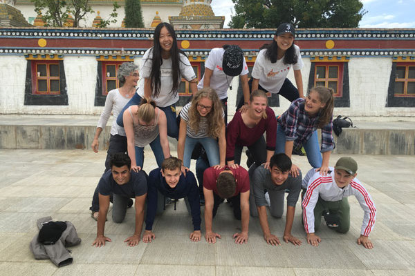 Chinese and international students trip